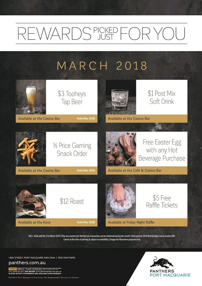 Rewards for You Vouchers March
