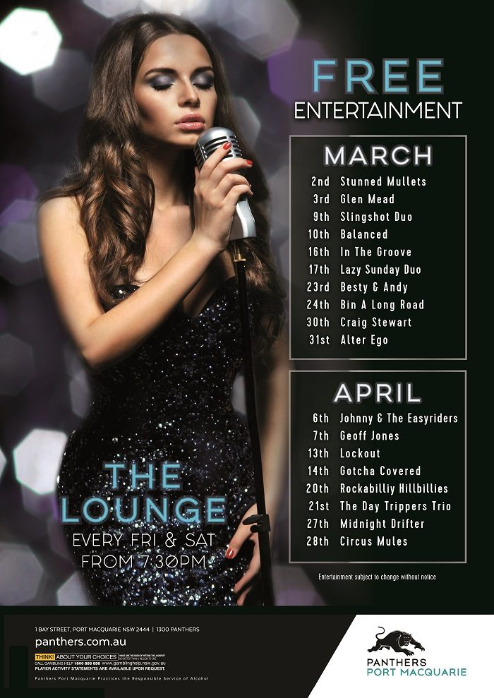 March-April Lounge Live Music